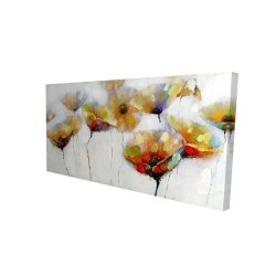 Canvas 24 x 48 - 3D - Color spotted flowers