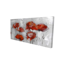 Canvas 24 x 48 - 3D - Abstract poppies