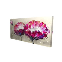 Canvas 24 x 48 - 3D - Two wild flowers