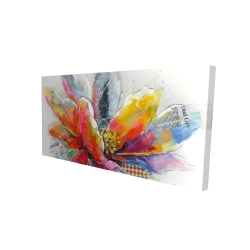 Canvas 24 x 48 - 3D - Abstract flower with texture