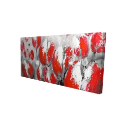 Canvas 24 x 48 - 3D - Abstract red tulips