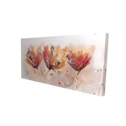 Canvas 24 x 48 - 3D - Four little flowers