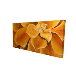 Canvas 24 x 48 - 3D - Orange flower closeup