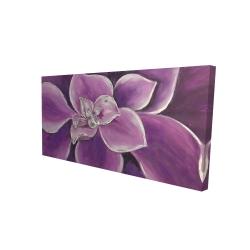 Canvas 24 x 48 - 3D - Purple flower closeup
