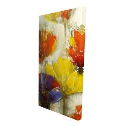 Canvas 24 x 48 - 3D - Modern yellow flowers