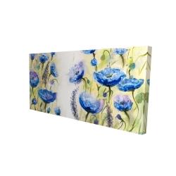Canvas 24 x 48 - 3D - Blue garden