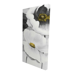 Canvas 24 x 48 - 3D - Assorted white flowers