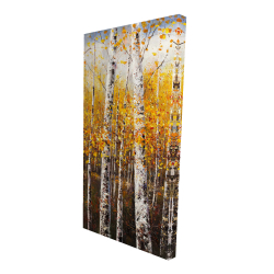 Canvas 24 x 48 - 3D - Birches by sunny day
