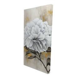 Canvas 24 x 48 - 3D - White peony