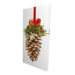 Canvas 24 x 48 - 3D - Christmas pine cone