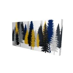 Canvas 24 x 48 - 3D - Golden fir