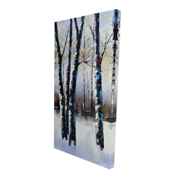 Canvas 24 x 48 - 3D - Frosted trees