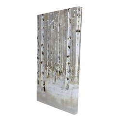 Canvas 24 x 48 - 3D - Birch forest by winter