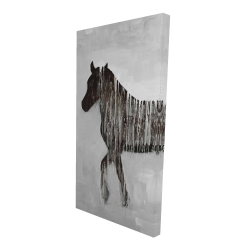 Canvas 24 x 48 - 3D - Gambading abstract horse