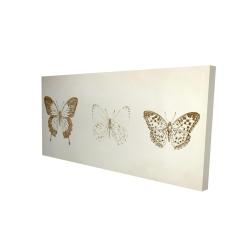 Canvas 24 x 48 - 3D - Butterflies sketch