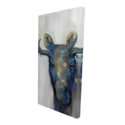 Canvas 24 x 48 - 3D - Blue moose
