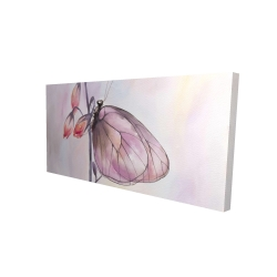 Canvas 24 x 48 - 3D - Delicate butterfly