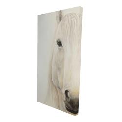 Canvas 24 x 48 - 3D - Half portrait of a smiling horse