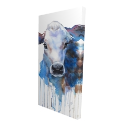 Canvas 24 x 48 - 3D - Watercolor jersey cow