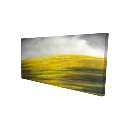 Canvas 24 x 48 - 3D - Yellow hill