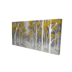 Canvas 24 x 48 - 3D - Yellow birch forest