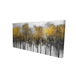 Canvas 24 x 48 - 3D - Abstract yellow forest