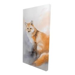 Canvas 24 x 48 - 3D - Watercolor fox