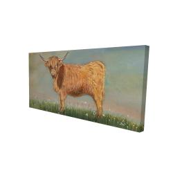 Canvas 24 x 48 - 3D - Daisy the highland cow