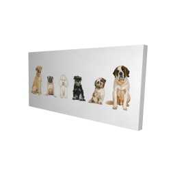 Canvas 24 x 48 - 3D - Man's best friend