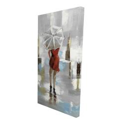 Canvas 24 x 48 - 3D - Red dress woman