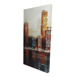 Canvas 24 x 48 - 3D - Abstract red cityscape