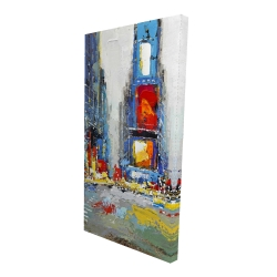 Canvas 24 x 48 - 3D - Abstract and colorful buildings