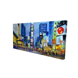 Canvas 24 x 48 - 3D - Cityscape in times square