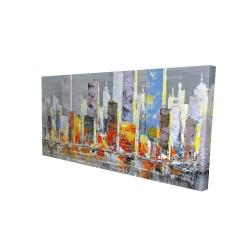 Canvas 24 x 48 - 3D - Color splash cityscape