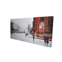 Canvas 24 x 48 - 3D - Classic street scene