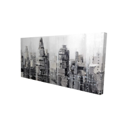 Canvas 24 x 48 - 3D - Gray city