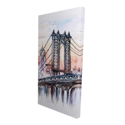 Canvas 24 x 48 - 3D - Bridge sketch
