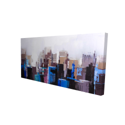 Canvas 24 x 48 - 3D - Abstract skyscrapers