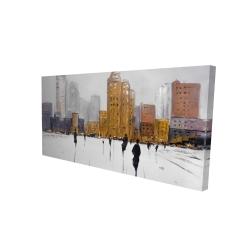 Canvas 24 x 48 - 3D - City on the horizon