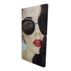 Canvas 24 x 48 - 3D - Fashionable sunglasses