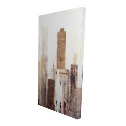 Canvas 24 x 48 - 3D - Abstract earthy tones city