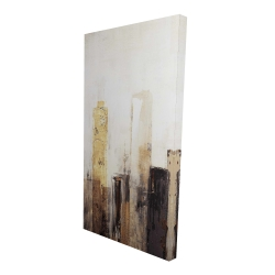 Canvas 24 x 48 - 3D - Earthy tones city