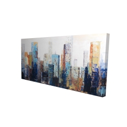 Canvas 24 x 48 - 3D - Texturized abstract city