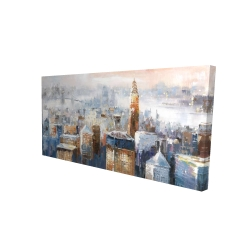 Canvas 24 x 48 - 3D - Abstract new york city