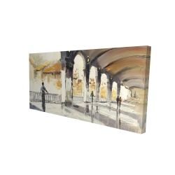 Canvas 24 x 48 - 3D - People in a spacious hall