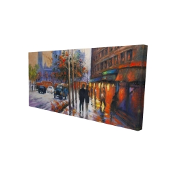Canvas 24 x 48 - 3D - City by fall