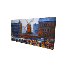 Canvas 24 x 48 - 3D - Street scene to moulin rouge