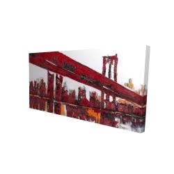 Canvas 24 x 48 - 3D - Red bridge