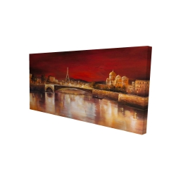 Canvas 24 x 48 - 3D - Paris by red dawn