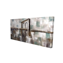Canvas 24 x 48 - 3D - Abstract paint spotted bridge